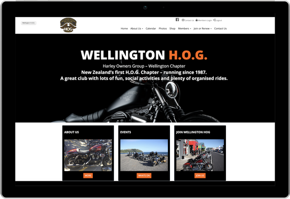 Wellington H.O.G Chapter Membership Website