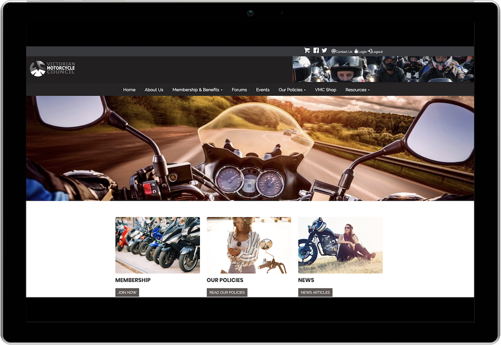 Victorian Motorcycle Council Membership Management Website