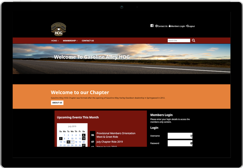 Gasoline Alley H.O.G. Chapter Website