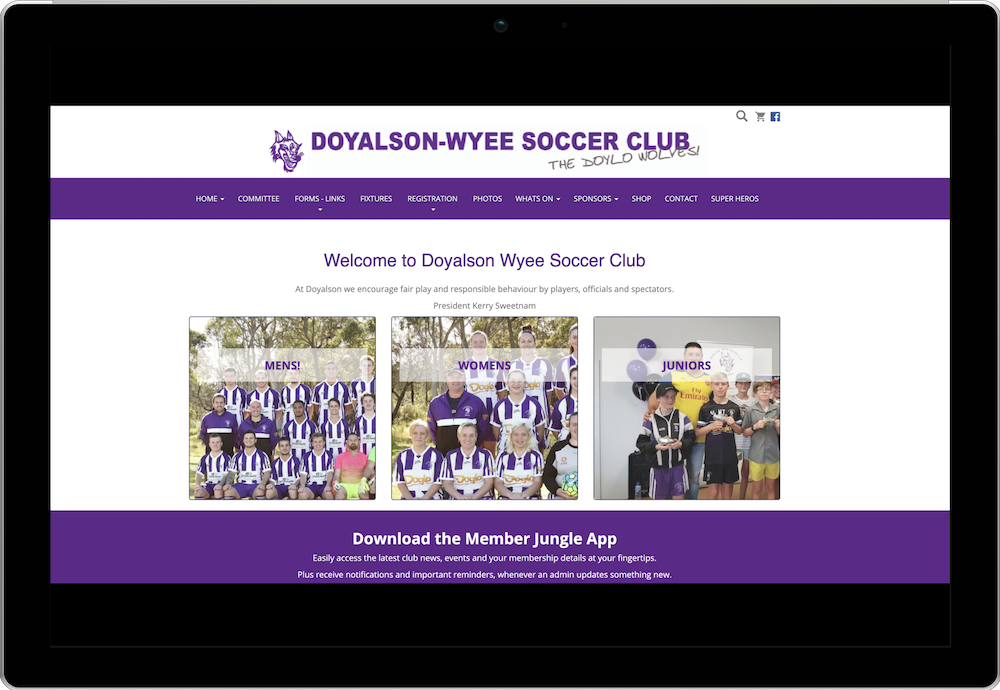 Doyalson Wyee Soccer Club Membership Management Website
