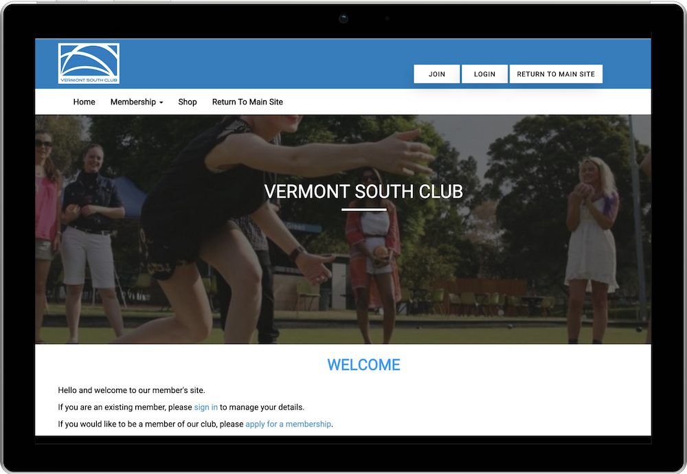Vermont South Club Membership Website