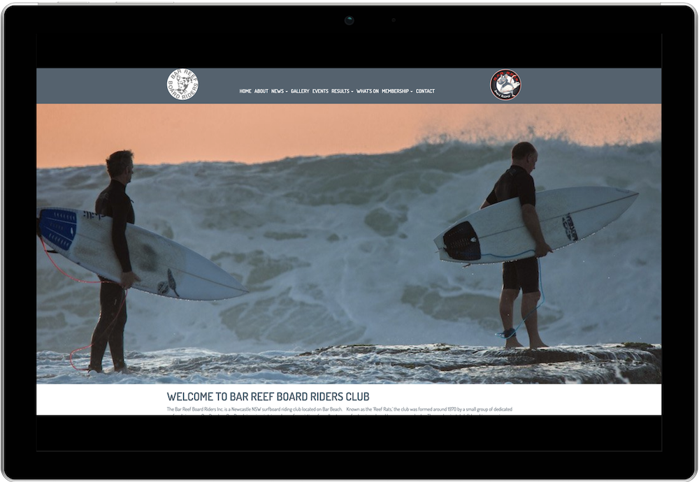 Bar Reef Boardriders Club Website