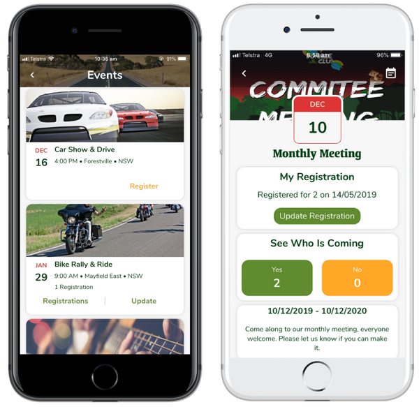 Mobile App for Car and Bike Clubs