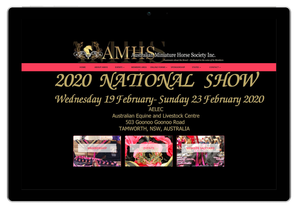 Australian Miniature Horse Society Website