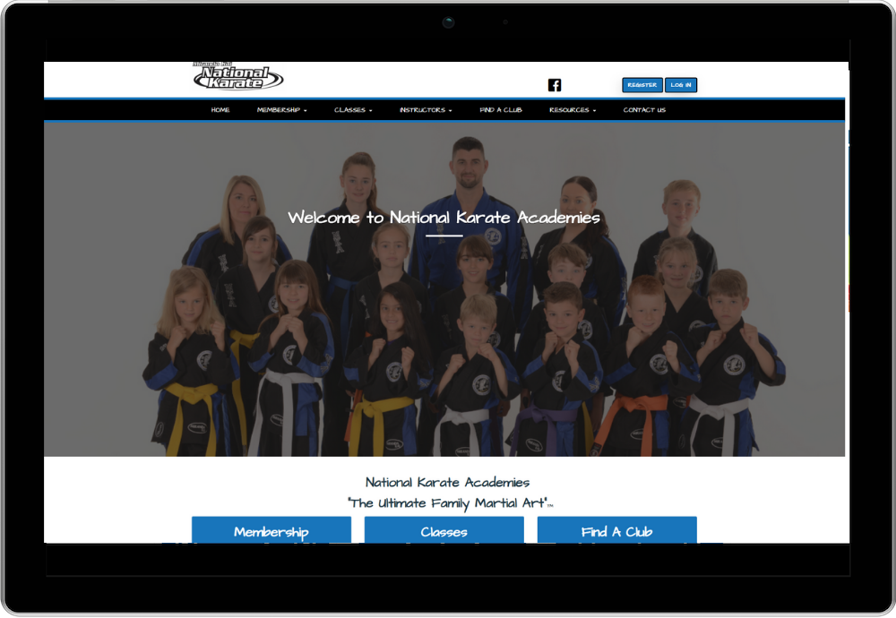 National Karate Academies Membership System