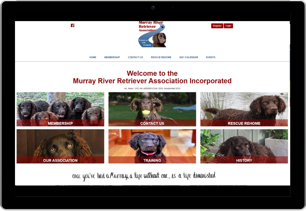Murray River Retriever Association Incorporated Membership System