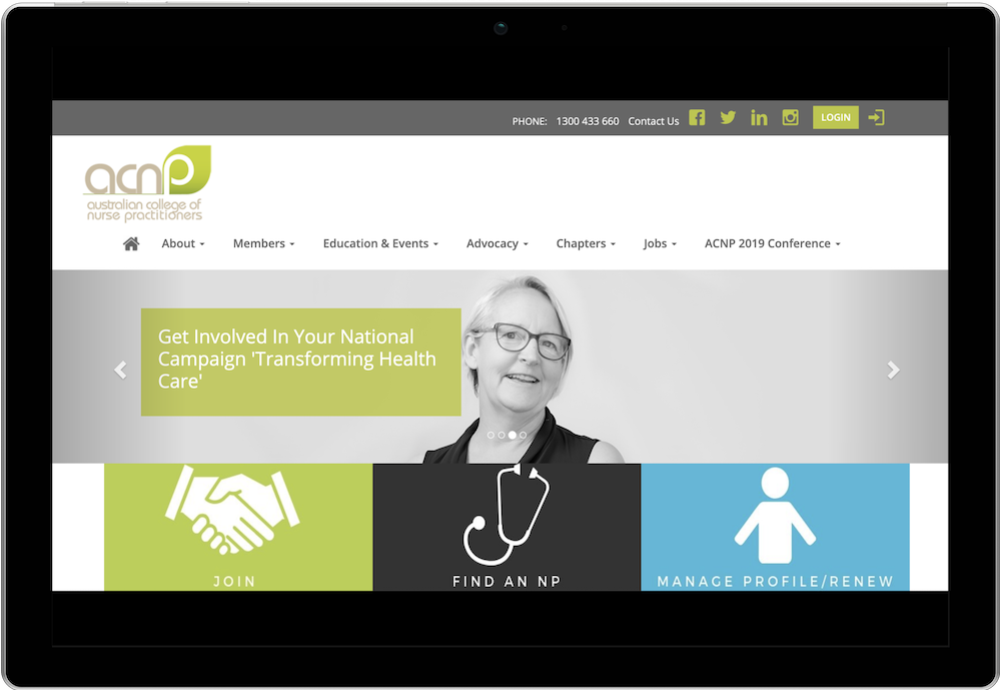 Australian College of Nurse Practitioners Membership Website