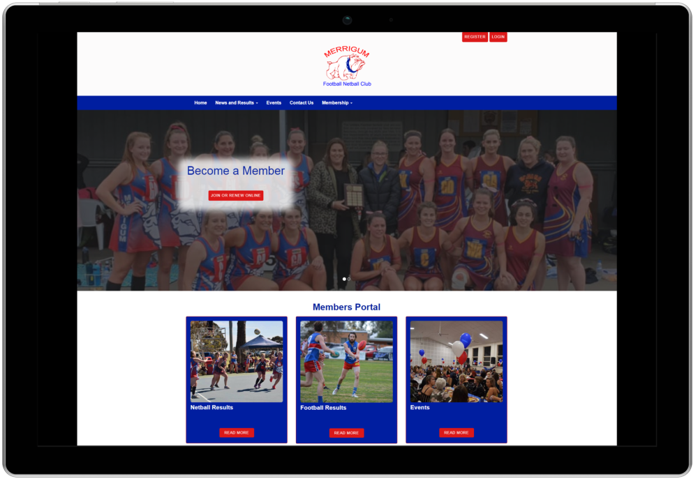 Merrigum Football Netball Club Website
