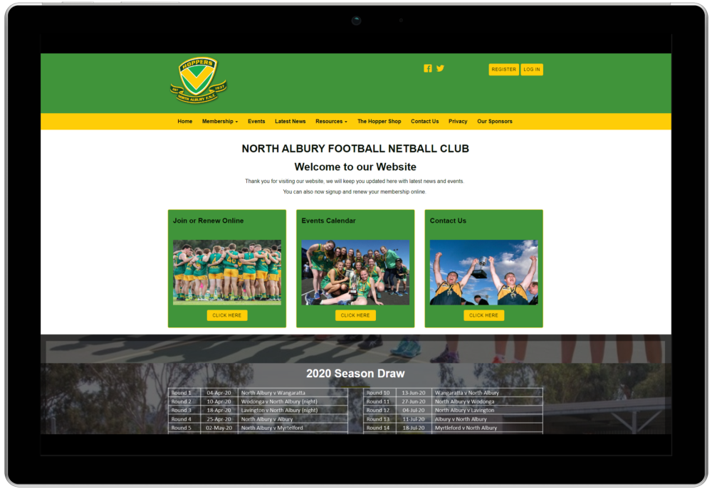 North Albury Football Netball Club Website