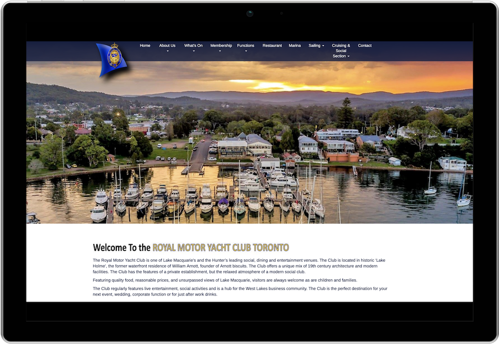 Royal Motor Yacht Club Toronto Club Membership Management Website